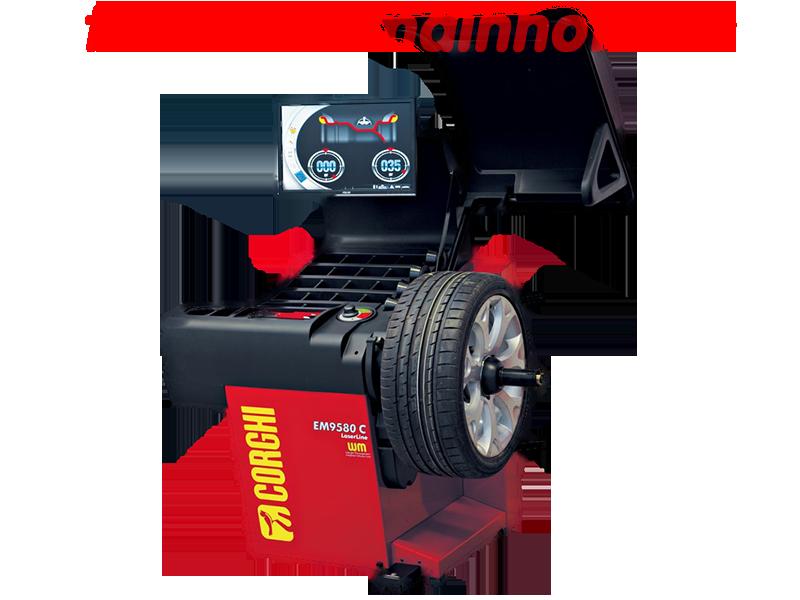 máy cân mâm, máy cân bằng động mâm, thiết bị cân bằng động mâm, máy cân bánh xe, máy cân bằng bánh xe, thiết bị cân bằng bánh xe, thiết bị cân bằng động bánh xe, EM9580 Laserline