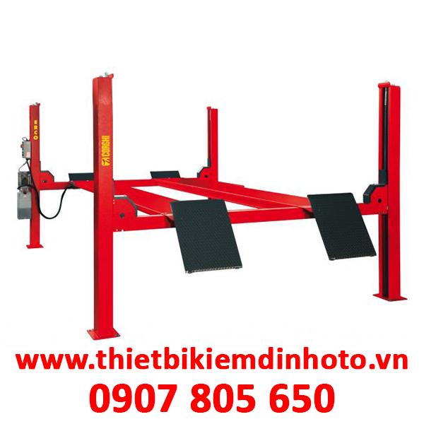 cầu nâng 4 trụ, bàn nâng 4 trụ, cầu nâng cho kiểm tra góc đặt bánh xe, cầu nâng