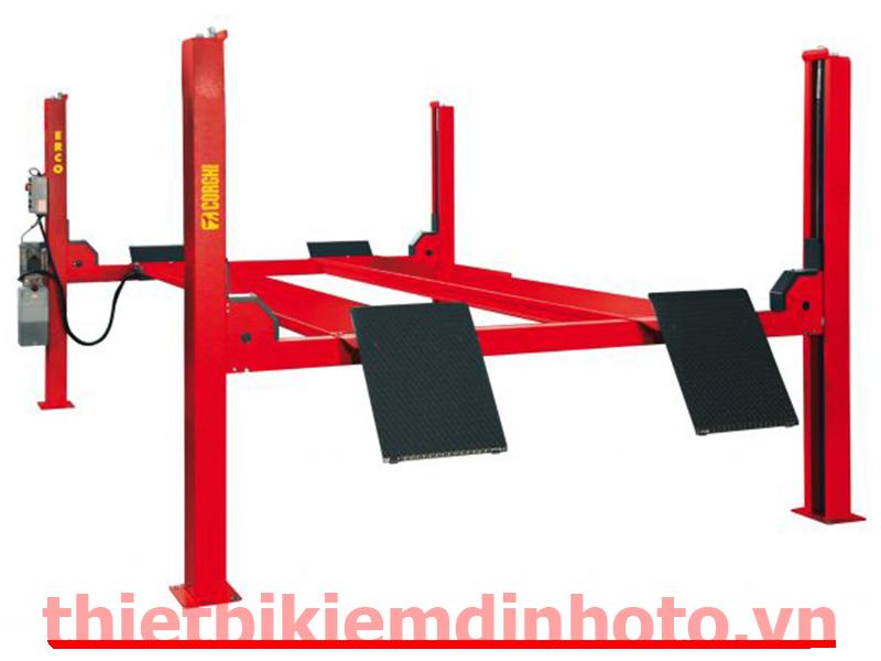 cầu nâng 4 trụ, dàn nâng 4 trụ, thiết bị nâng hạ ô tô, bàn nâng 4 trụ